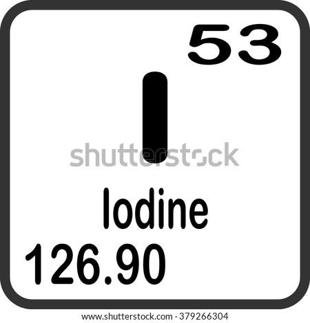 Periodic Table Elements Iodine Stock Photo Photo Vector