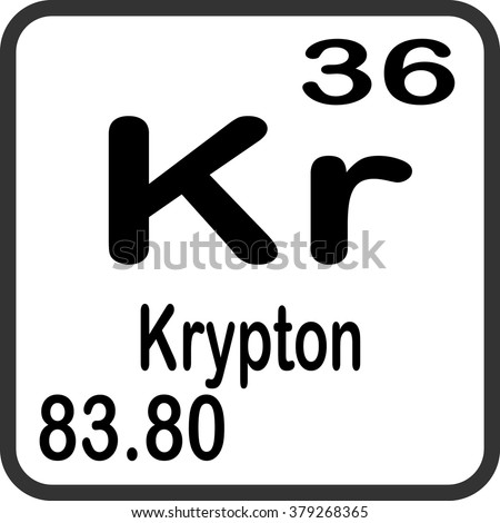 Krypton Element Periodic Table Krypton Stock Photos, ...