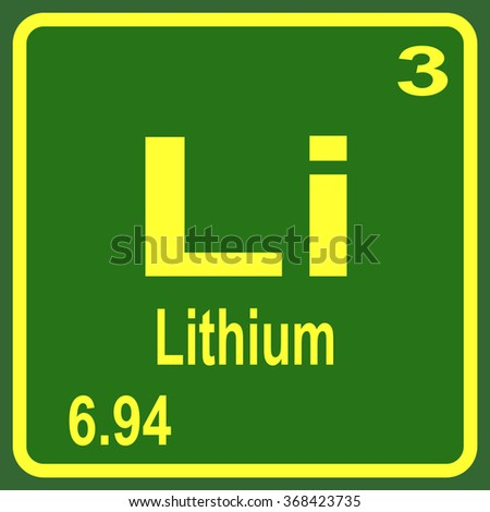 Periodic Table of Elements - Lithium - stock vector