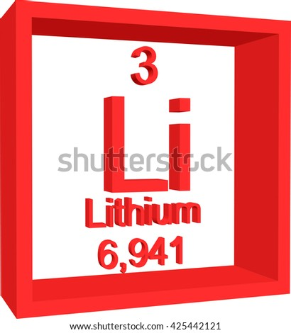 Periodic table elements lithium stock vector 425442121 shutterstock periodic table of elements lithium urtaz Gallery