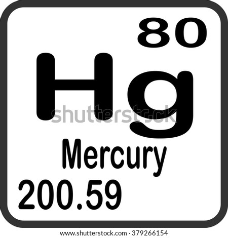 Periodic table elements mercury stock vector 379266154 shutterstock periodic table of elements mercury urtaz Images