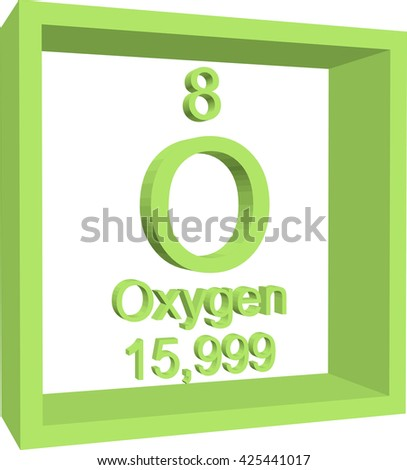Periodic table elements oxygen stock vector 425441017 shutterstock periodic table of elements oxygen urtaz Gallery