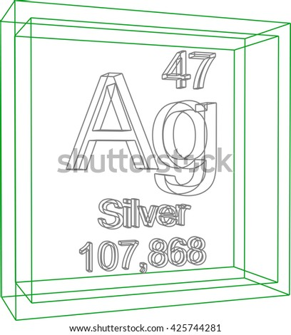 Periodic table elements silver stock vector 425744281 shutterstock periodic table of elements silver urtaz Image collections