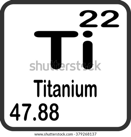 Periodic table elements titanium stock vector 379268137 shutterstock periodic table of elements titanium urtaz Image collections