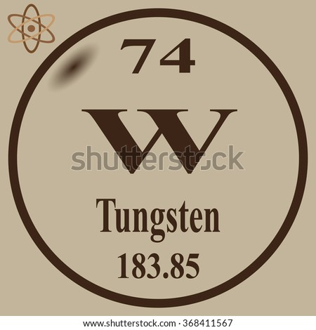 Periodic table elements tungsten stock vector 368411567 shutterstock periodic table of elements tungsten urtaz Gallery