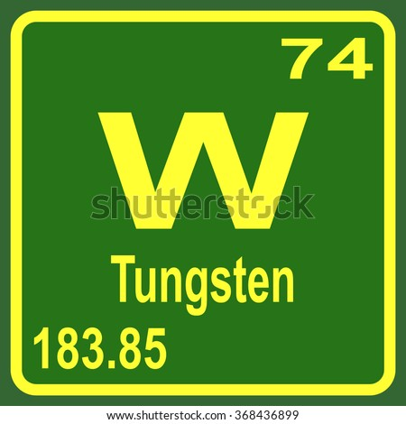 Tungsten stock photos royalty free images vectors - Tungsten symbol periodic table ...
