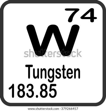 Periodic table elements tungsten stock vector 379266457 shutterstock periodic table of elements tungsten urtaz Image collections