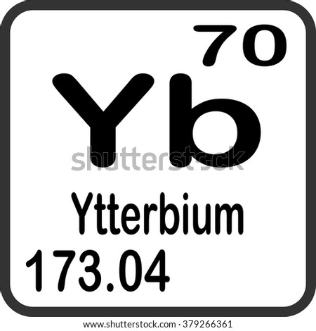 Periodic table elements ytterbium stock vector royalty free periodic table of elements ytterbium urtaz Images