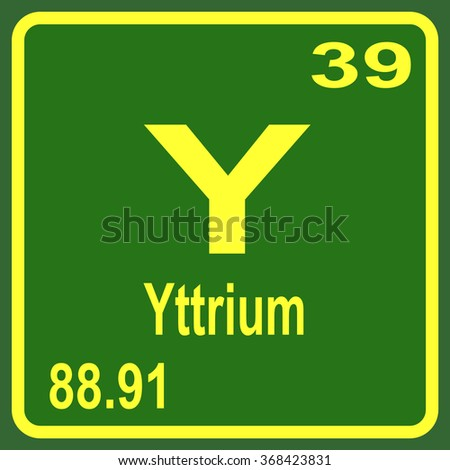 Periodic table elements yttrium stock photo photo vector periodic table of elements yttrium urtaz Images