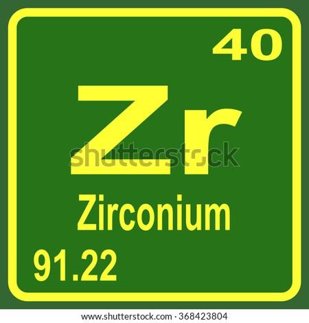 Periodic table elements zirconium stock vector 368423804 periodic table of elements zirconium urtaz Gallery