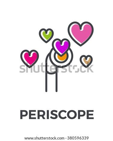 Periscope color line icon. Vector illustration. - stock vector