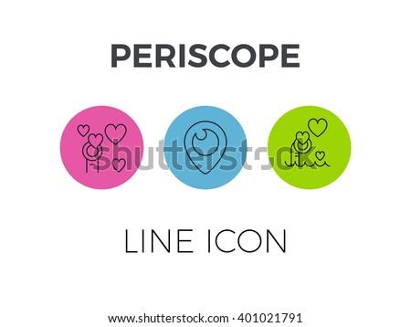 periscope simple line icon - stock vector