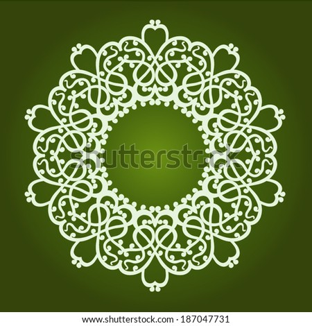 persian round pattern.illustration - stock vector