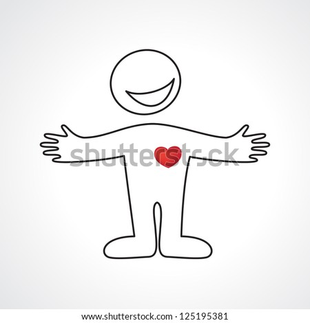 Person Heart Abtract Icon Template Design Vector 125195381 – Template of a Person