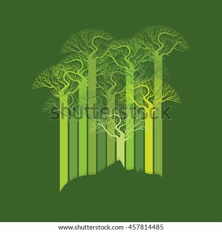 Person ecological, think green, concept idea. - stock vector