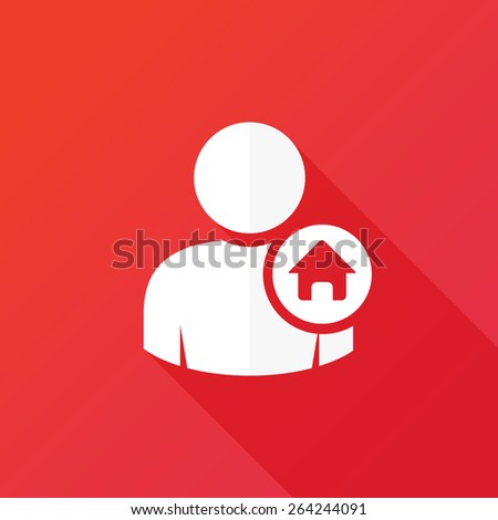 Person house icon. User home sign - stock vector