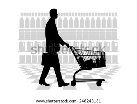 person making purchases - stock vector