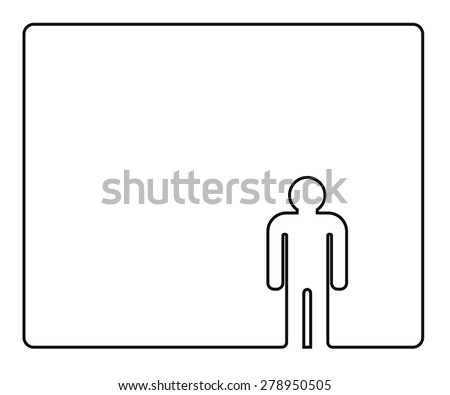 person outline icon design - stock vector