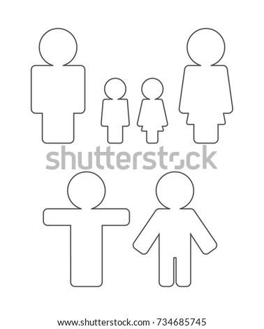 person outline icon set