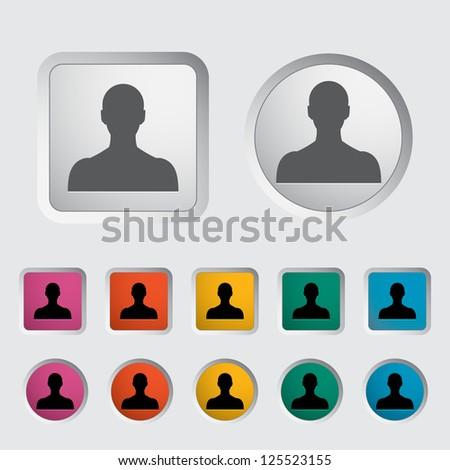 Person single icon. Vector illustration. - stock vector