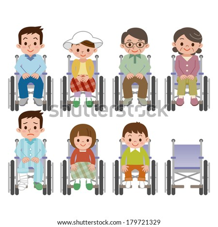 Person sitting in a wheelchair people - stock vector