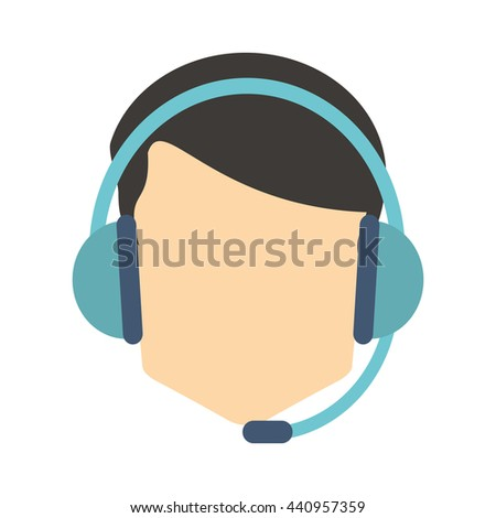 person with headset