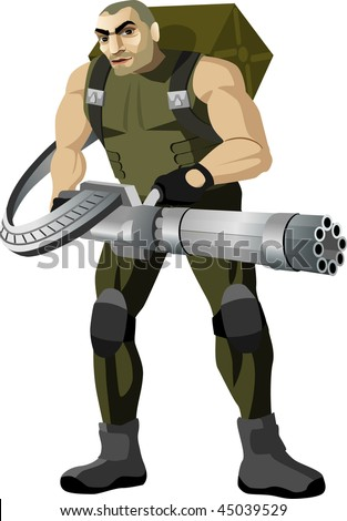 personage -soldier - stock vector
