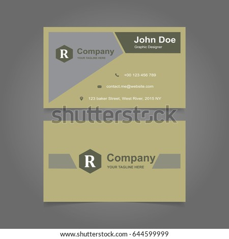 Vector Abstract Creative Business Cards Set Stock Vector 459707182 ...