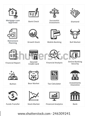 Personal & Business Finance Icons - Set 1 - stock vector