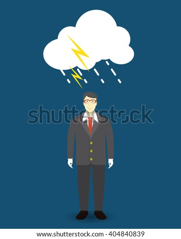 Personal development. Success. Personal and career growth. Business idea. Cloud connection technology. Flat Concept Vector Illustration. EPS10 - stock vector