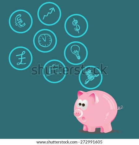 Personal, finance, control, management, vector, illustration  - stock vector