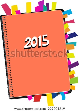 Personal Organizer 2015  - stock vector