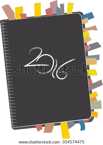 Personal Organizer 2016 - stock vector
