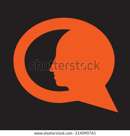 personal question simple icon - stock vector
