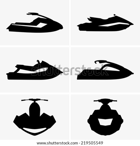 Personal water crafts - stock vector