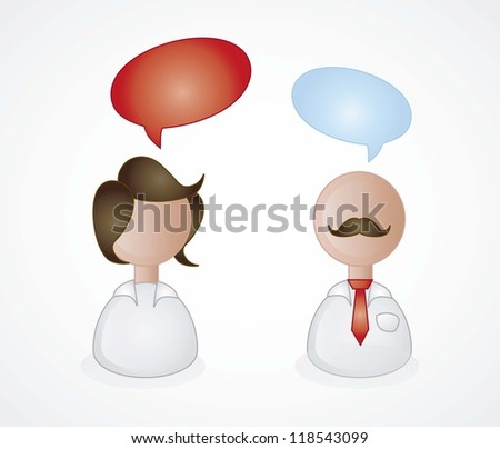 Persons engaging in a conversation - stock vector
