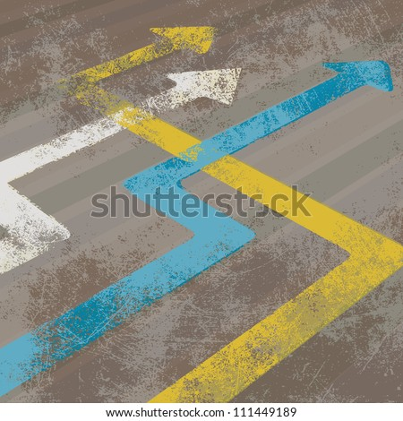 Perspective arrows - stock vector