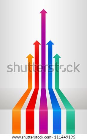 Perspective arrows - stock vector