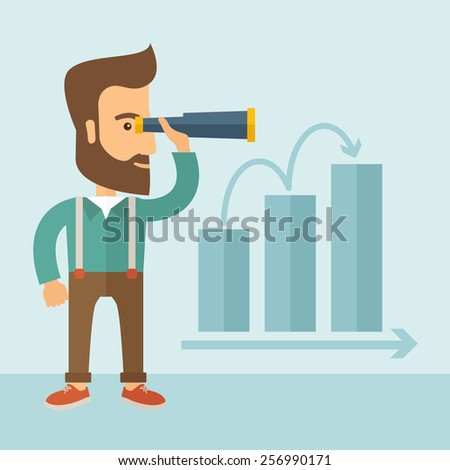 Perspective business - stock vector