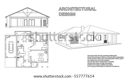 Perspective 3 D Floor Plan Cross Section Stock Vector