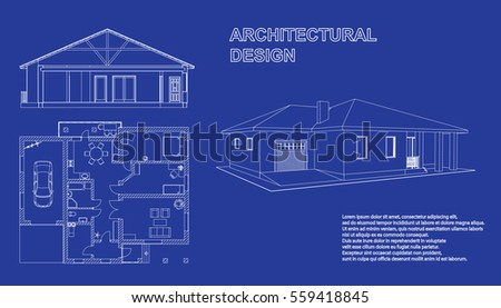 Shop icon blueprint style vectores en stock 411182443 shutterstock perspective 3d floor plan and cross section suburban house drawing of the modern building malvernweather Gallery