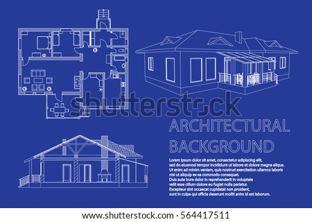 Perspective 3d floor plan cross section vectores en stock 566915719 perspective 3d floor plan and cross section suburban house drawing of the modern building malvernweather Image collections