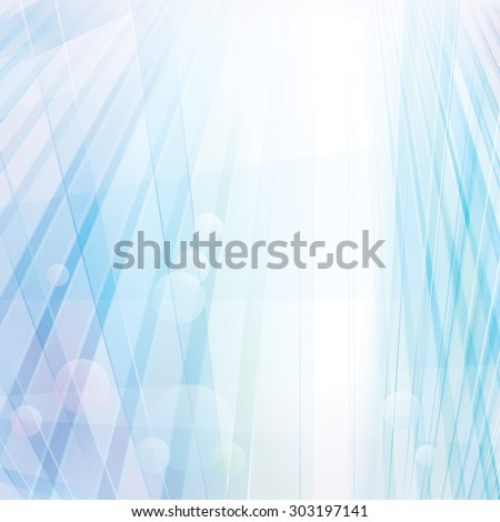 Perspective glass grid abstract background. - stock vector