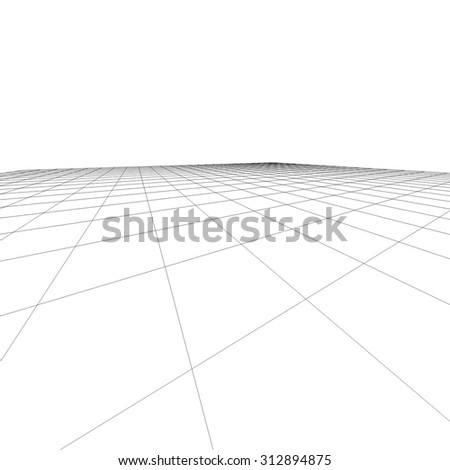 Perspective grid. Vector illustration.