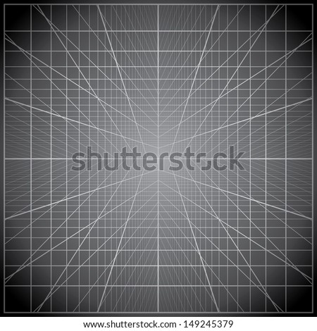 Perspective grids vector background. - stock vector