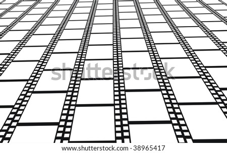 Perspective of empty filmstrips vector  background