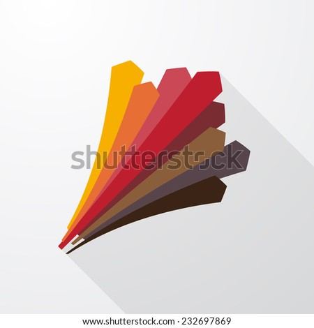 perspective pastel arrows pointing upward - stock vector