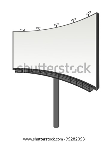 Perspective view billboard, abstract art