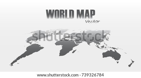 Perspective world map on gray background stock vector 739326784 perspective world map on gray background gumiabroncs Choice Image