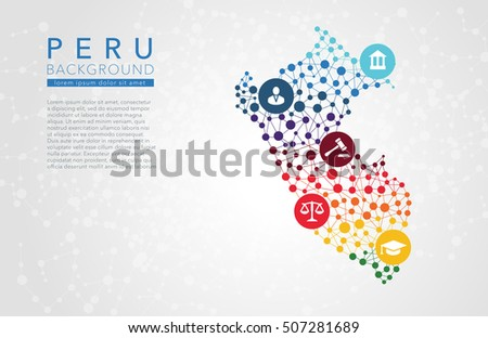Peru dotted vector background